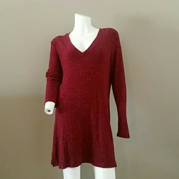 02d4613f3aa JustFab Tops | Xxl Top Tunic Burgundy | Poshmark